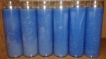 Blue plain candle
